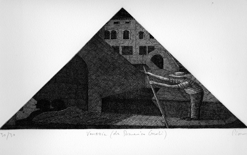 guido pigni etching venezia after domenico gnoli