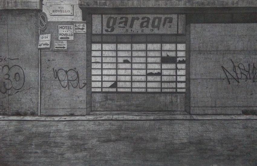 guido pigni Garage Dante etching aquatint