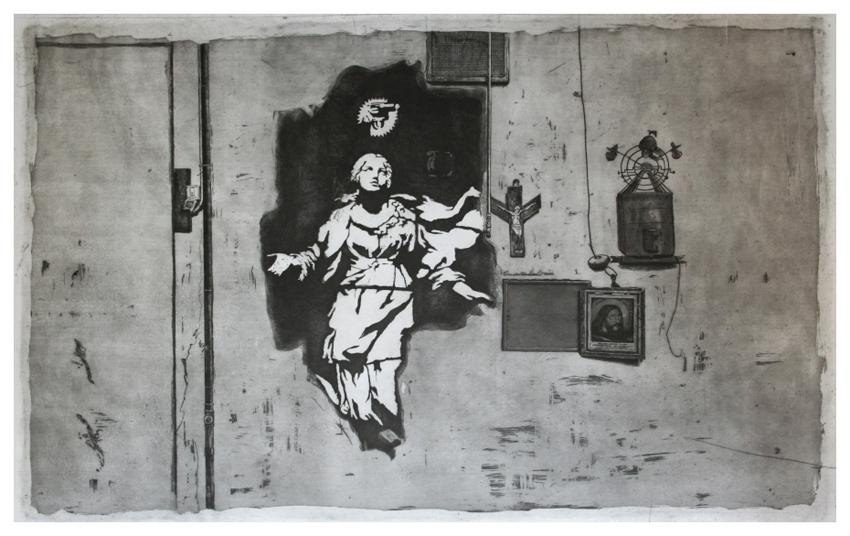 guido pigni banksy in napoli etching aquatint