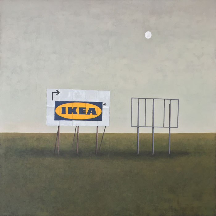 Ikea billboard guido pigni acrylic on canvas