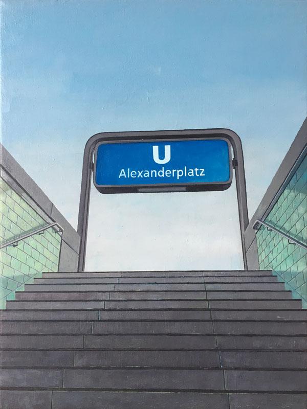 Alexanderplatz U bahn berlin by guido pigni