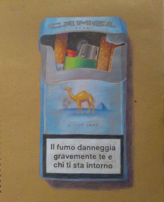 Disegno Di Un Pacchetto Di Sigarette Camel Guido Pigni Artist