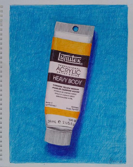 liquitex guido pigni colored pens on paper