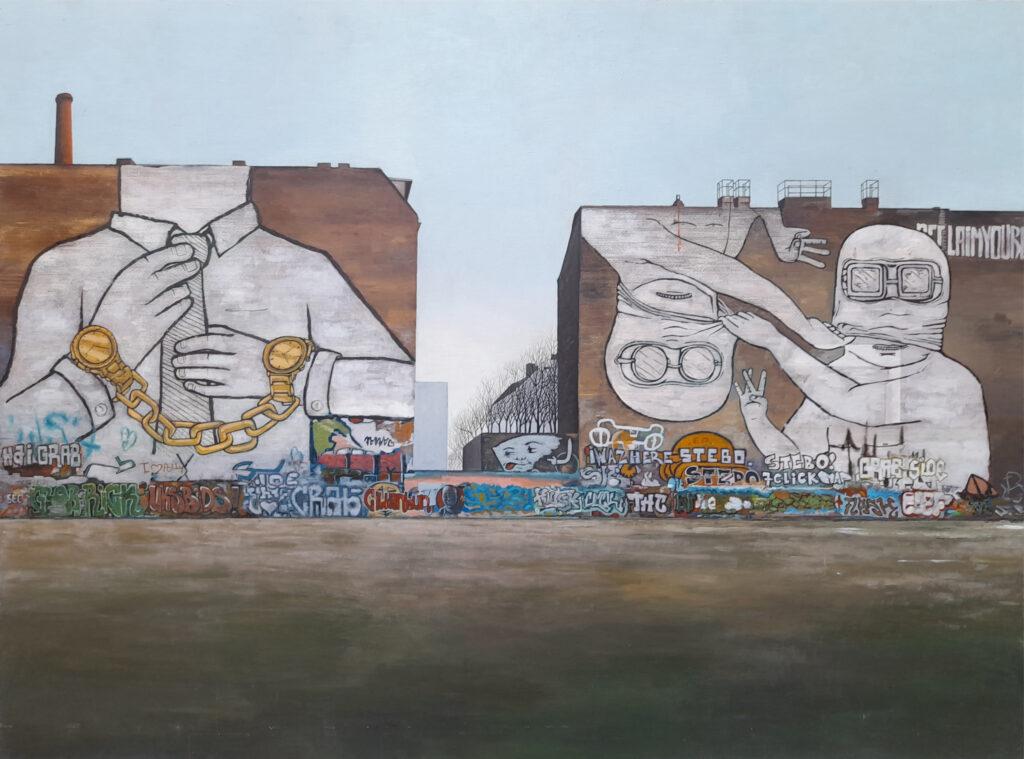 Cuvreystrasse Kreutzberg_ blu graffiti walls by guido pigni
