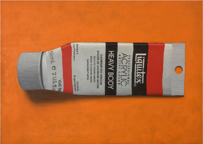 Liquitex_cadmium red_guido pigni painting
