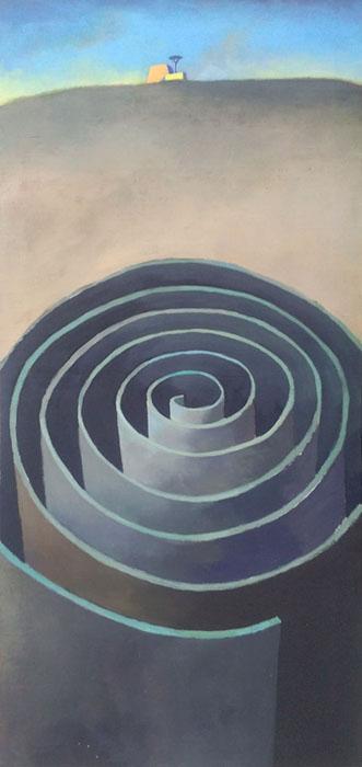 guido pigni Spirale 93 acrilico su tela
