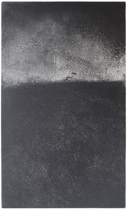 guido pigni printmaker, etching and aquatint, fuga_dal_temporale
