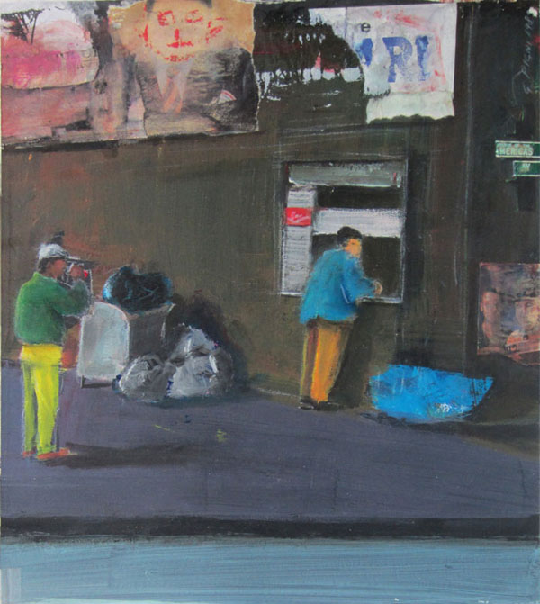 street_scene guido pigni acrylic on paperboard