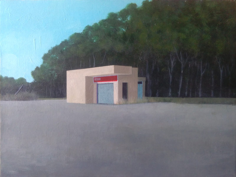 Esso station painting