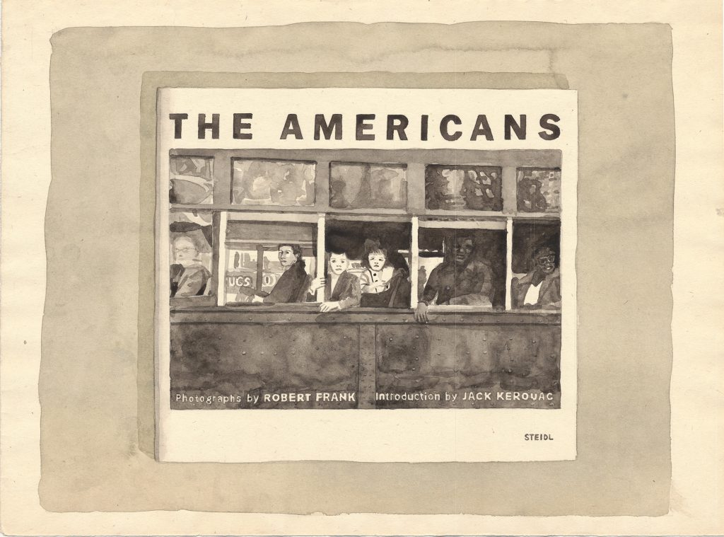 Robert Frank the Americans book watercolor by Guido Pigni
