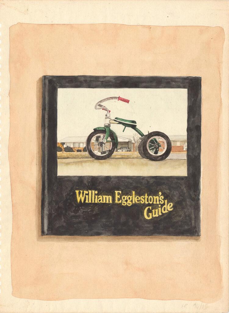 William egggleston's guide watercolor on paper cm 33x25