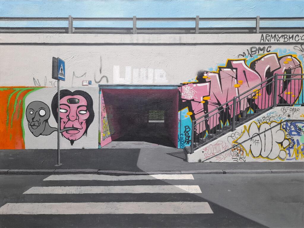 Guido Pigni 2018-19, acrylic on canvas, cm 90 x 120